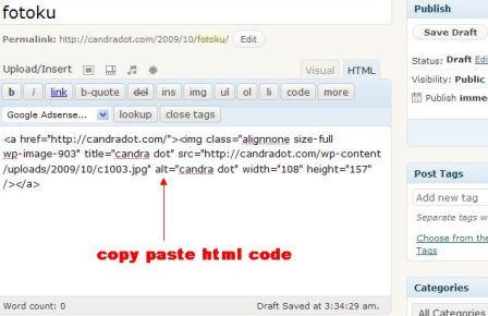 html code foto