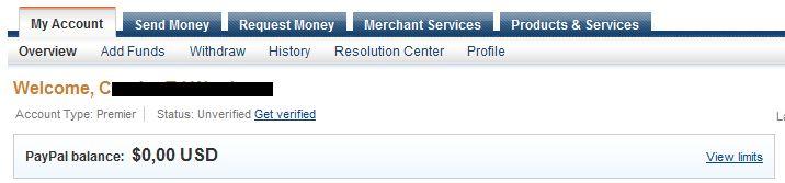 PayPal unverified